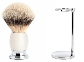 Mühle Rasierpinsel PURIST Silvertip Fibre® karelische Maserbirke