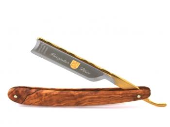 Aust Rasiermesser 6/8 Zoll spanischer Kopf Olivenholz