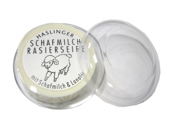 Haslinger Rasierseife Schafmilch ca. 60g in Dose