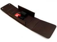 Kulturtasche echt Rindleder mit Taschenetui 3tlg. Edelstahl