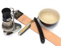 Mühle KOSMO Nassrasierer Gillette® Fusion(TM) kompatibel, Mooreiche