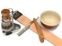 Mühle Rasierset TRADITIONAL 3-teilig mit Rasierhobel und Rasierpinsel Silberspitz
