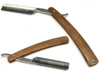 Mühle Rasierhobel ( Nassrasierer für Flachstahl-Rasierklingen ) GRANDE Metall verchromt