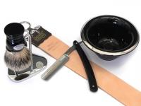 Mühle RYTMO Black Fibre Rasierpinsel Set Angebot schwarz