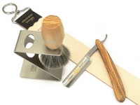 Mühle RYTMO Black Fibre Rasierpinsel Set Angebot Eschenholz