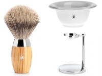 Mühle SOPHIST Silvertip Fibre® Rasierpinsel Set Angebot echtes Horn